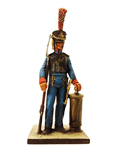 Military-historical miniatures Sailor The Guard 1810 Year Hand Painted Tin Metal 54mm Action Figures Toy Soldiers Size 1/32 Scale Home Décor Accents Collectible Figurines Item #NY1.14