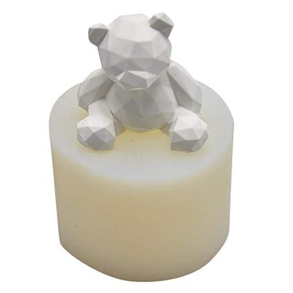 Hete-supply Moldes de Silicona en Forma de Oso 3D para Hacer Velas de jabón