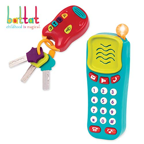 Battat Combo Set - Light & Sound Phone + Keys - Toddlers Ages 0+ (2 Piece) (Best Phone For 11 Year Old Boy)