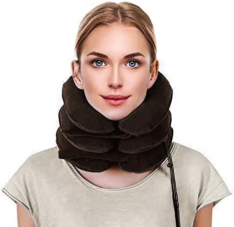 Neck Stretcher- Cervical Neck Traction Device   Neck Brace for Cervical Neck Traction Fast Neck Pain Relief Aligns Spine and Relieves Pressure from The Neck and Shoulders You Will Feel The Difference