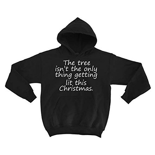 Old Lady Missing Dog Costume (The tree isn't the only thing getting lit this christmas Hoodies , Unisex Hoodie, Christmas gift for dad, Father's Day, size S-5XL)