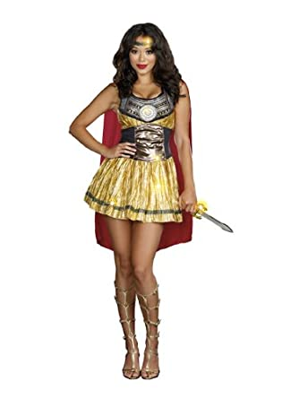 805069ddd07 Amazon.com  Dreamgirl Women s Golden Gladiator Dress  Clothing