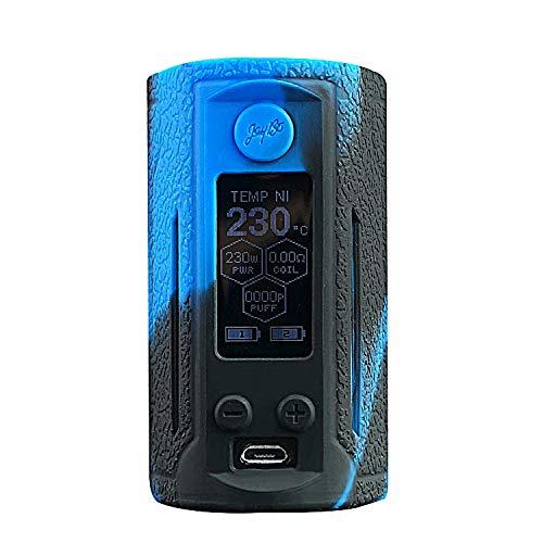 DSC-Mart Texture Case for Wismec Reuleaux RX GEN3 Dual 230W,Protective Anti-Slip Silicone Skin Cover Sleeve Wrap Gel Fits RXGEN3 (BlackBlue)
