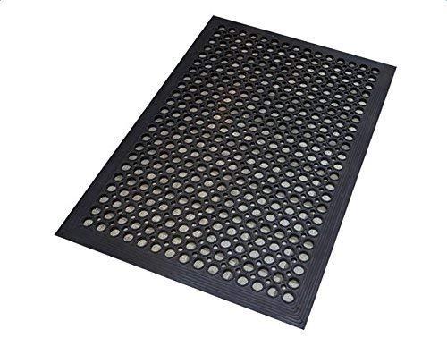 ROVSUN Rubber Floor Mat, 36x60 Anti-Fatigue/Non-Slip Drainage Mat, for Industrial Kitchen Restaurant Bar Bathroom, Indoor/Outdoor Cushion