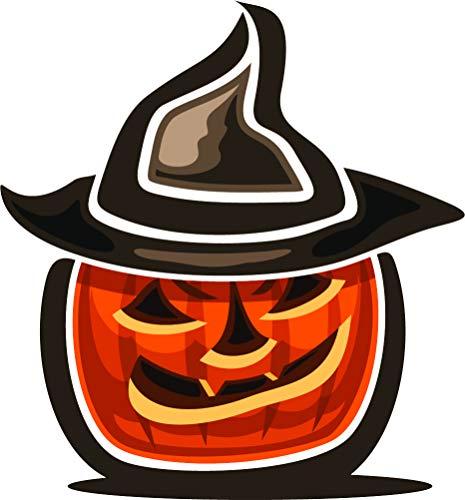 Cute Kids Kindergarten Halloween Pumpking Jack-o-Lantern Cartoon Vinyl Sticker (8