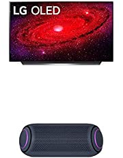"LG OLED48CXPUB Alexa Built-in CX 48"" 4K Smart OLED TV (2020) w/ PL7 XBOOM Go Water-Resistant Wireless Bluetooth Party Speaker"
