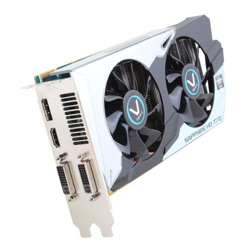 Sapphire Radeon Vapor-X HD 7770 GHZ OC 1 GB DDR5 DVI-I/DVI-D/HDMI/DP PCI-Express Graphics Card (11201-05-20G) (1100 Mhz Core)