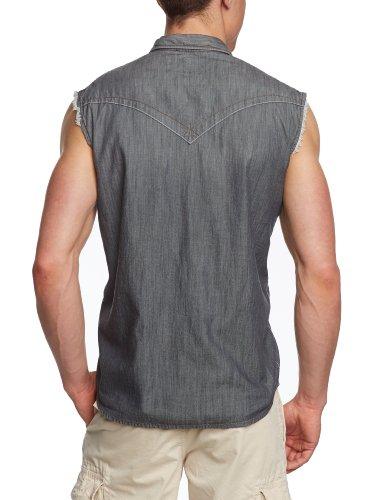 Tom Tailor Denim - Chemise Casual - Manches Courtes Homme -  gris - XX-Large