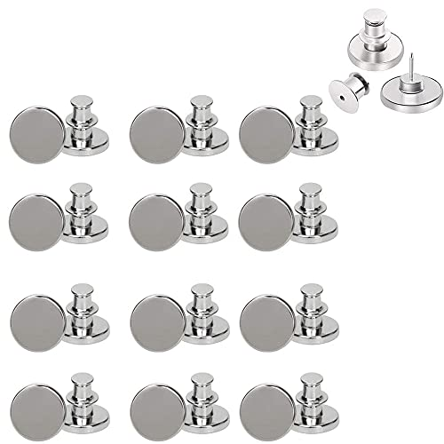 AXEN 12PCS Button Pins for Jeans, No sew Perfect Instant Fit Button, Simple Installation Instant Reduce or Extend Pants Waist