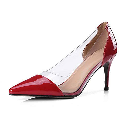 Compensées Sandales AdeeSu Femme Red SDC06082 wPxqHTBn