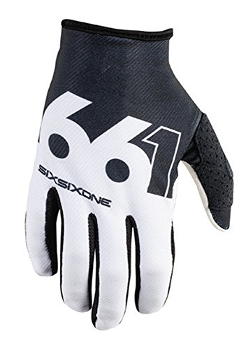 Face 661 Full Helmet (SixSixOne Unisex-Adult Comp Slice Glove (Black/White, Large))