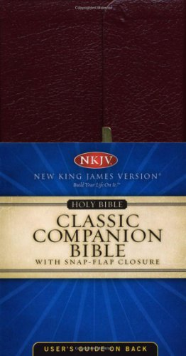 NKJV Companion Bible: Snap - Leather Blazer Genuine