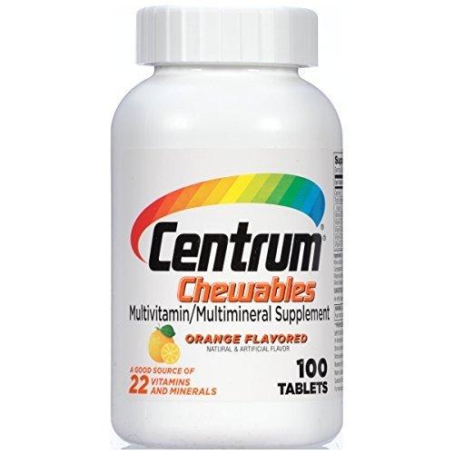 Centrum Chewable Tablets Orange Flavored - 100 ct