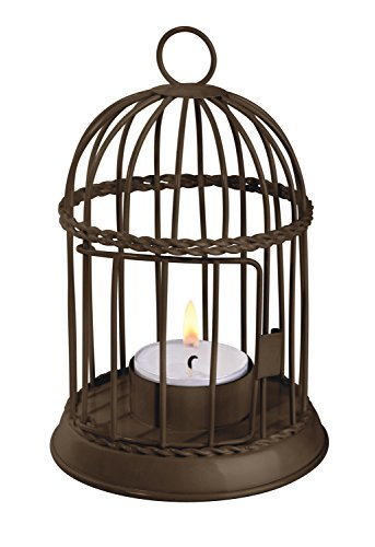 Perfect Life Ideas Birdhouse Style LED Tea Light Holder - Table Top Standing or Hanging - For Standard Size Flameless Electric LED Tealights or Votive LED Candles. Colors Vary.