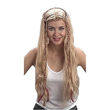 Jugueteriaonline 4719484683635 - Peluca del Renacimiento Rubia c/Trenzas: Amazon.es: Juguetes y juegos