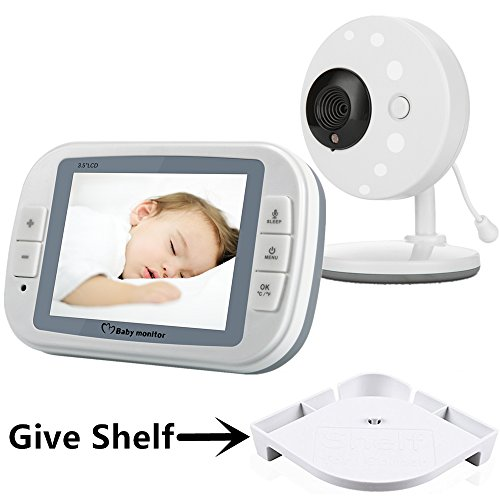 Minilabo Video Baby Monitor 3.5 inch Wireless Baby Camera Temperature Monitors with Night Vision,2 Way Talk and Long Range