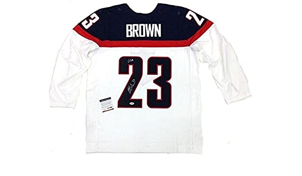 finest selection ab52d be6ea Autographed Dustin Brown Jersey - Team Usa 2014 Olympics ...