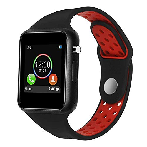 IOQSOF Smart Watch, Bluetooth Touchscreen Smart Wrist Watch Smartwatch Phone Fitness Tracker with SIM SD Card Slot Camera Pedometer Compatible iOS ...