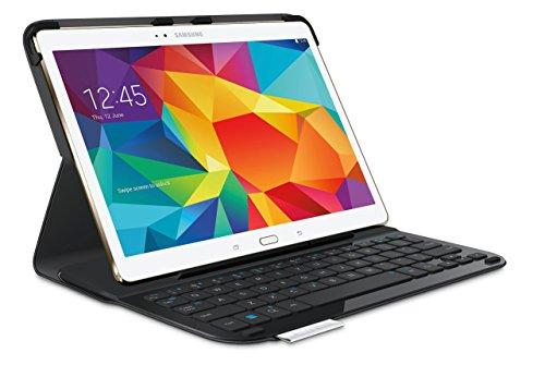 Logitech Keyboard Folio Type S Tablet-Hülle mit Tastatur für Samsung Galaxy Tab S 10.5 (QWERTZ, deutsches Tastaturlayout) schwarz