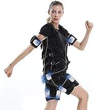 Smart Fitness Vest EMS Fitness Clothes Electric Pulse Suit Black Technology Muscle Vest Female