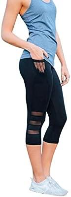 Leggings Deporte Mujer Fitness,Mujer Polainas Skinny Mallas Patchwork Yoga Leggings Pantalones Deportivos de Fitness Leggings Mujer Talla Grande ...