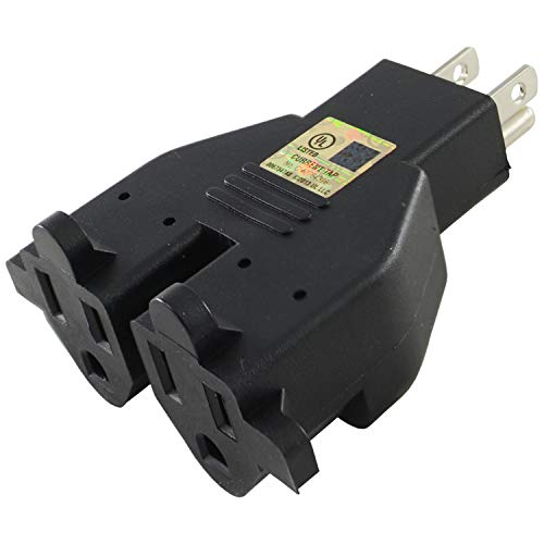 Adapter Plug Dual - Conntek RL-30104 U.S. 3-Prong Heavy Duty Dual Outlet Adapter