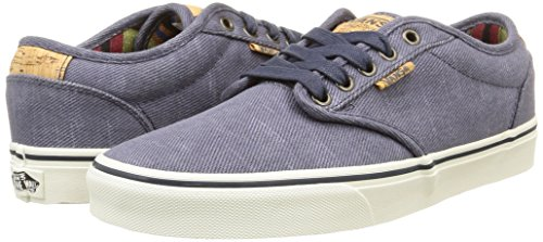 Deluxe Homme washed Twill Vans Baskets Atwood navy Basses marshmallow Bleu AP5WRBS