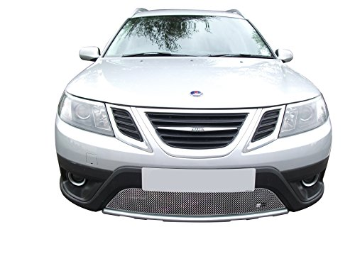 Zunsport Compatible with Saab 9-3X - Lower Grille - Silver Finish (2009 to 2011) ()