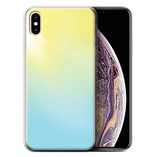 (STUFF4 Gel TPU Phone Case/Cover Apple iPhone Xs Max/Solar Flare Design/Vivid Ombre Collection)