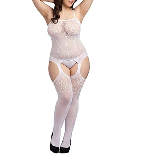Curbigals-Sexy-Lace-Strappy-Crotchless-Bodystocking-Plus-Size-Fishnet-Teddy-Lingerie