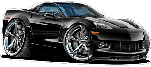 2010-2012 Corvette WALL DECAL Vintage 3D Cartoon Car Movable Stickers Vinyl Wall Stickers for Kids Room