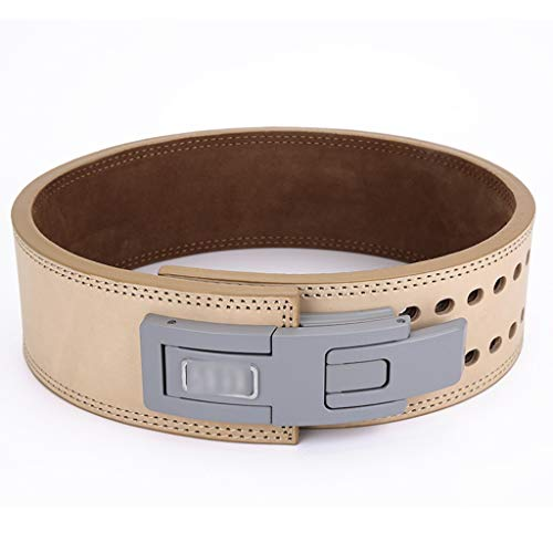 Weight Belts Exercise Belt Powerlifting Fitness Belt Men and Women Squat Deadlift Professional Leather Belt Training Weightlifting Lever Buckle