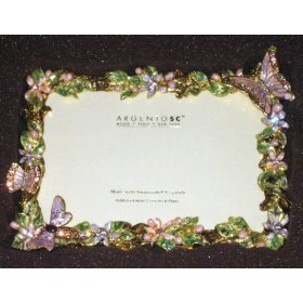 (Argento SC Swarovski Crystal Picture Frame 6x4
