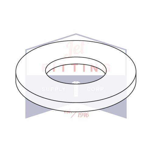 #4 X 1/4'' X .125 Flat Washers / Nylon / Natural / Outer Diameter: 1/4'' | Thickness: .125'' (QUANTITY: 5,000 pcs) Made in USA by Jet Fitting & Supply Corp