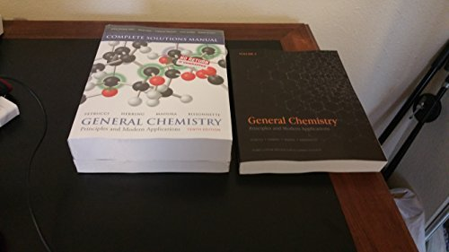 General Chemistry Principles and Modern Applications, Petrucci 10th edition volume1/volume2/complete solutions manual/ +mastering chemistry access code