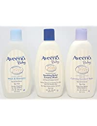 Aveeno Baby Combo Pack: 8 fl oz Wash and Shampoo, Soothing Relief Creamy Wash, & Calming Comfort Calming Comfort Bath BOBEBE Online Baby Store From New York to Miami and Los Angeles