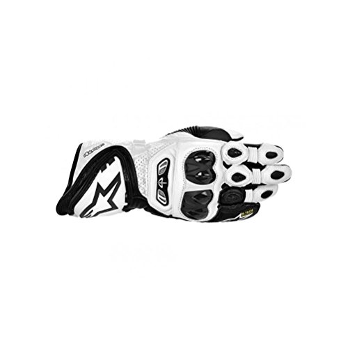 Alpinestars Mens GP Tech Leather Gloves 2014 X-Large White Black