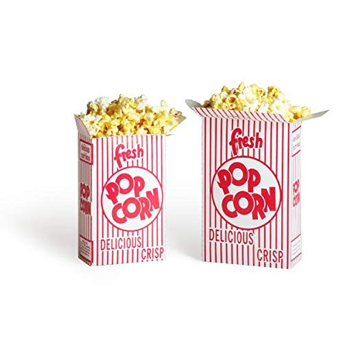 2104 Great Northern Popcorn 100 Premium Quality Movie Theater Style Popcorn Boxes 1.25 Ounce (Oz) Box