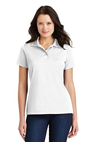 Port Authority Ladies Bamboo - Port Authority Ladies Bamboo Pique Sport Shirt, 3XL, White