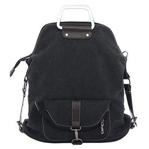 Rucksack Bag MiCoolker function Black Shoulder Canvas Multi Handbag Backpack TM Crossbody TwBazAq