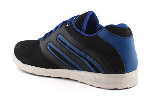 Redfoot AORFEO Unisex Blue and Black Men and Women Casual Sport Running Shoes and Leather Look Sneaker Shoe Shoes SP05 (10)
