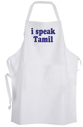 Amazon com: I speak Tamil – Adult Size Apron – Language Sri