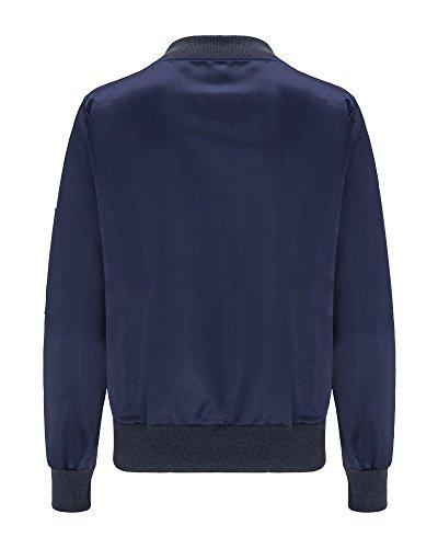 Del Blu Bomber Rivestimento Donna Baseball Slim Inverno Outwear Parka Cappotto Caldo vPRcP04Aqg