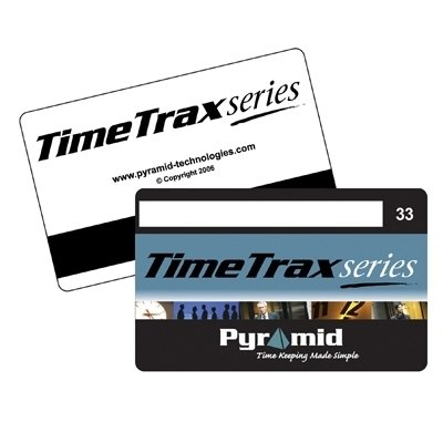 Pyramid PTI41302 Time Recorder Swipe Cards, Numbered 1-25, TimeTrax Systems, 25 Per Pack ()