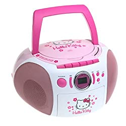 Hello Kitty CD Boom Box with AM/FM Stereo Radio - KT2028