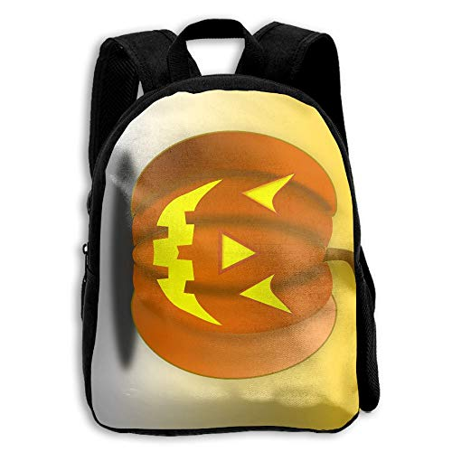 FIDALJF Halloween Pumpkin Smiley Face Children's Backpack Little Kid School Bag with Adjustable Shoulders Ergonomic Back Pad Perfect for School, Security, Sporting Events