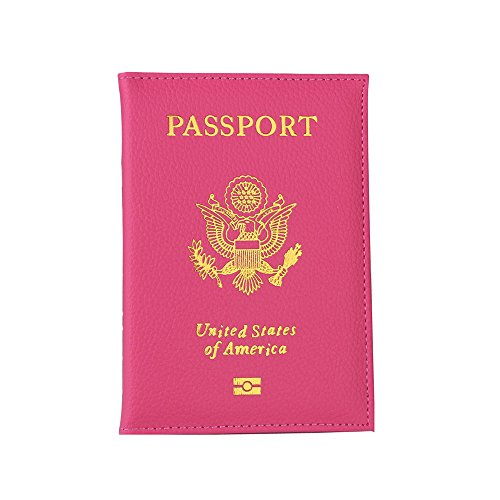 Camel Leopard Combo - FORUU Bags, 2019 Summer Newest Arrival Holiday Party Beach Under 15 dollar Unisex Passport Holder Protector Wallet Business Card Soft Passport Cover Hot Pink