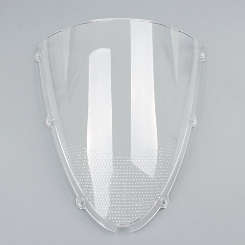 Areyourshop Windshield WindScreen Double Bubble For Kawasaki ZX6R 05-08 ZX10R 2006-2007 ()