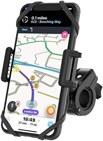 TruActive Unbreakable Bike Phone Mount Holder, Motorcycle Phone Mount, Cell Phone Holder for Bike – Universal, Bike Phone Holder, Golf, ATV – 6 Color Bands – Any Phone or Handlebar, Tool Free Install