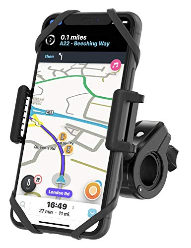 TruActive Unbreakable Bike Phone Mount Holder, Motorcycle Phone Mount, Cell Phone Holder for Bike – Universal, Bike…